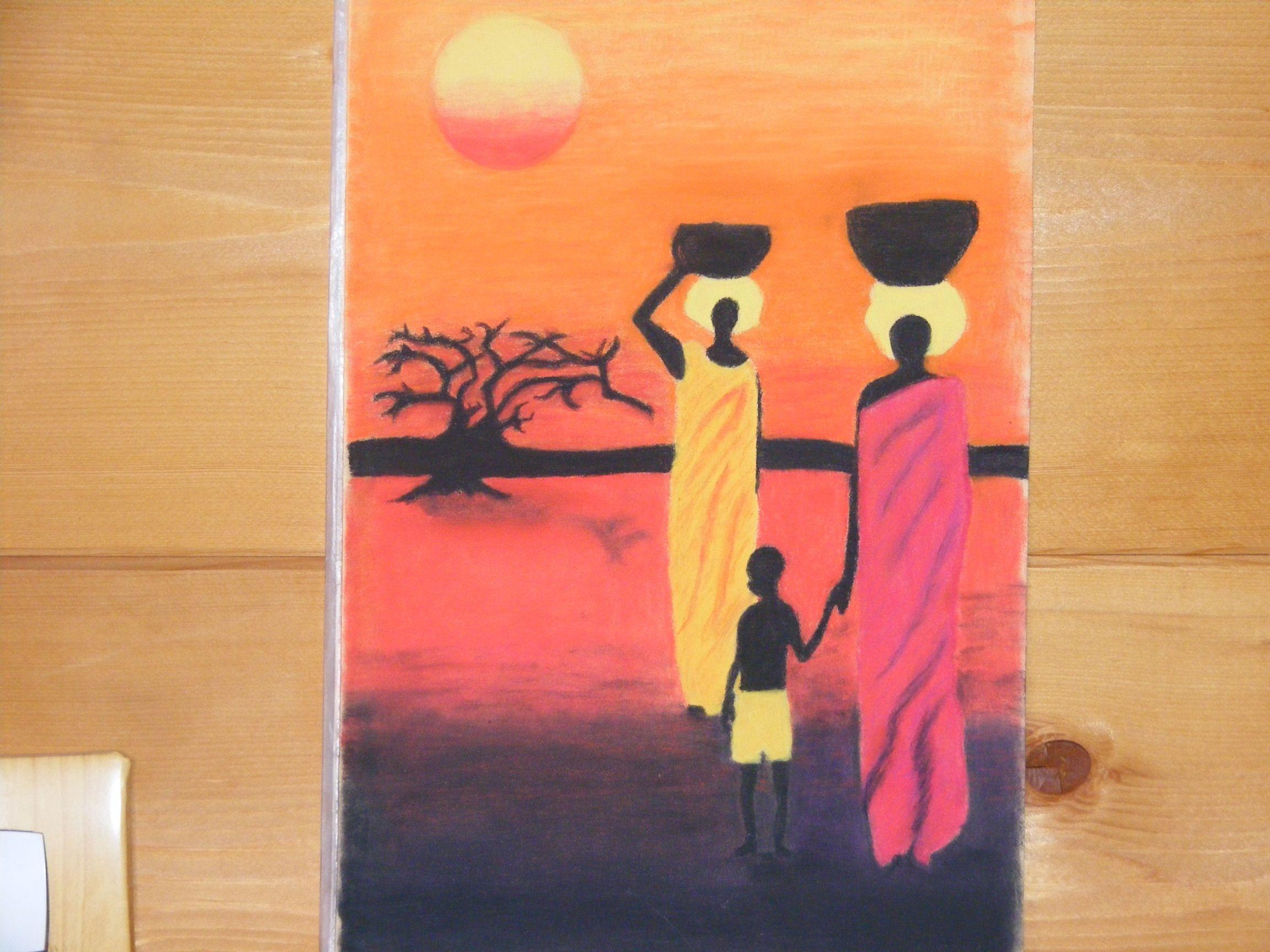 Cadeau de mon amie christine - Tableau couleur chaude ...