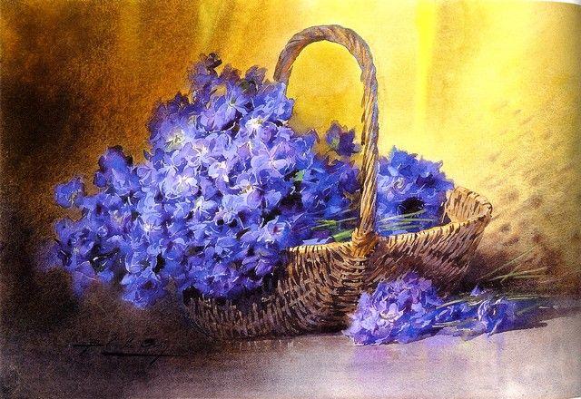 Artiste peintre blanche odin for Peinture violette